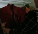 Emma's red jacket