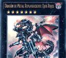 Dragón de Metal Replandeciente Ojos Rojos