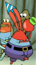 Mr. Krabs Wearing a Party Hat.png