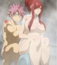 Natsu washing Erza's back.png