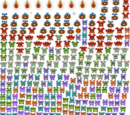 In-game sprite sheet