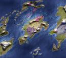 Mapa físico-político y zonas de influencia cultural