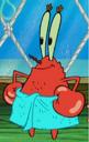 Mr. Krabs Wearing a Blue Towel.png
