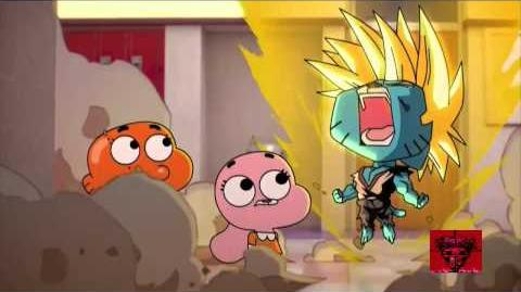 Gumball REALLY turns Super Saiyan
