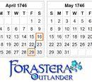 Acta del calendario de 1751