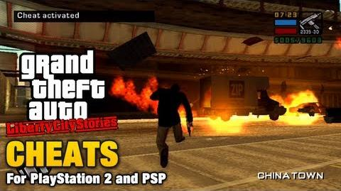 Cheats in GTA Liberty City Stories