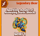 Sparkling Amulet of Annoying Static Shocks (Legendary)