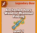 Enchanted Ivory Wand of Diamond Finding (Legendary)