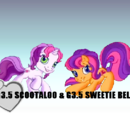 G3.5 Scootaloo & G3.5 Sweetie Belle