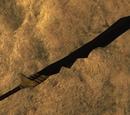 Tępy obsydianowy miecz długi