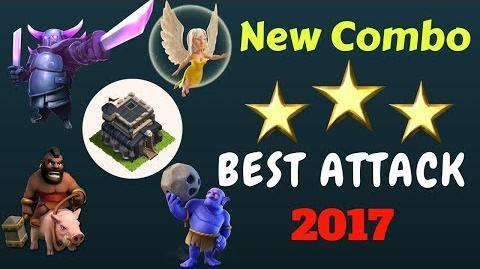 TH 9 New combo new attack strategy 2017 town hall 9 get 3 star from any base coc th9 new strategy