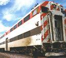 Bilevel rail car