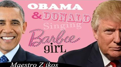 Donald Trump And Barack Obama Singing Barbie Girl By Aqua - Maestro Ziikos