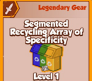 Segmented Recycling Array of Specificity