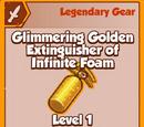Glimmering Golden Extinguisher of Infinite Foam