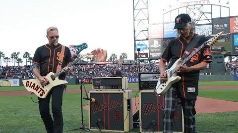Kirk & James Perform the National Anthem (2017 Metallica Night w the SF Giants)-1502234515