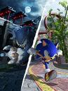Sonic Unleashed Artwork - Sonic The Hedgehog And Sonic The Werehog (Chun-nan).jpg