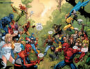 Savage Land Skrulls (Earth-616), New Avengers (Earth-616), and Mighty Avengers (Initiative) (Earth-616) from Secret Invasion Vol 1 2 001.jpg