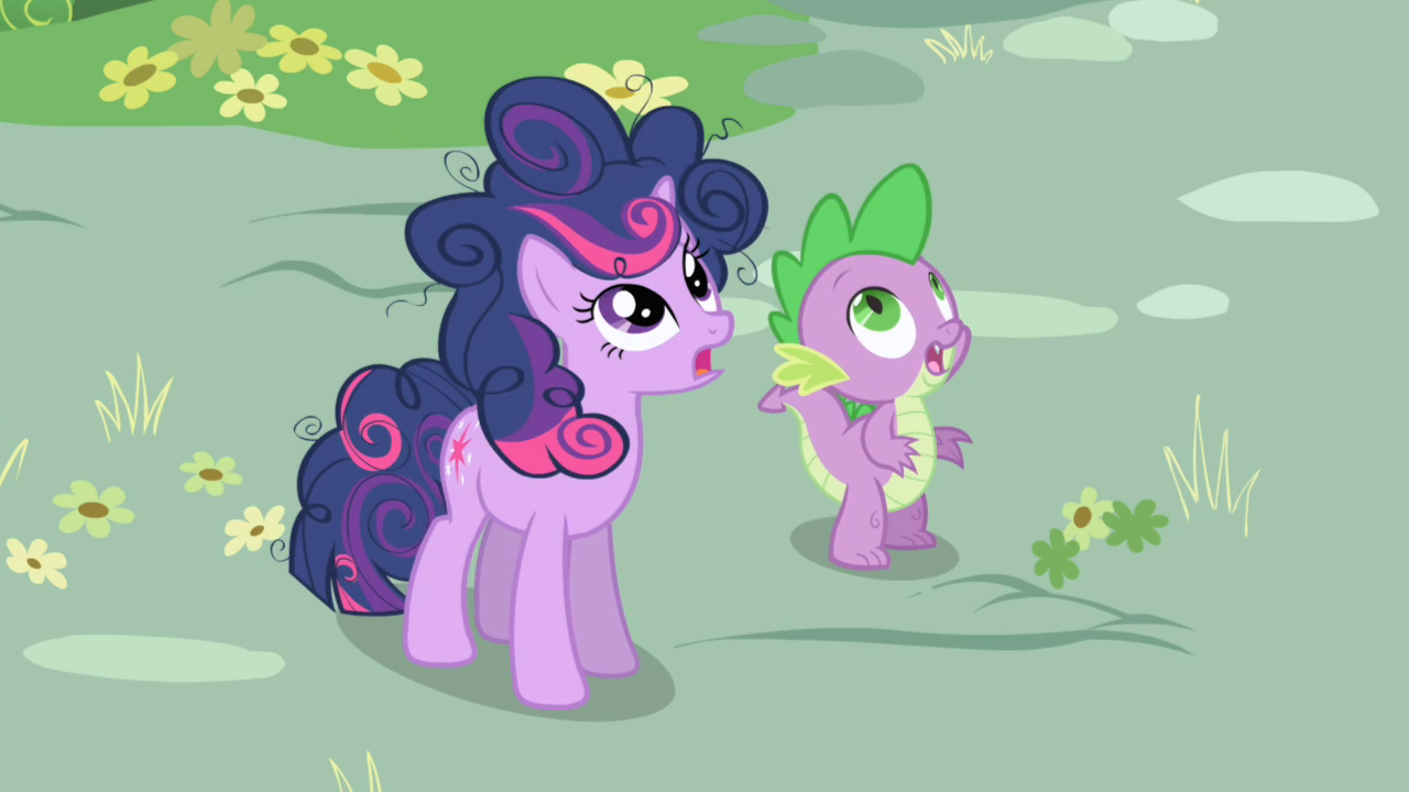 Image - Twilight and Spike Surprised S01E01.png - My ...