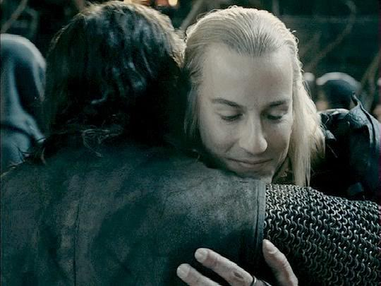 Haldir and Aragorn