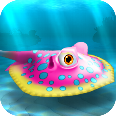 Image - FISHR Pink Bluespotted Stingray.png - Nemo's Reef Wiki